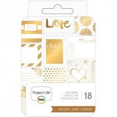 Набор карточек GOLDEN Project Life от Project Life. В наборе 18 карточек, American Craft, VT000936