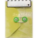 Набор конвертов Envelopes, в наборе 4 конверта, размер 3х4 дюйма(7,6х170,2 см), Heidi Swapp, VT000938