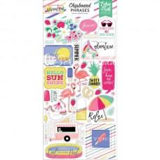 Чипборд  на самоклейки Best Summer Ever, размер упаковки: 30х15см., Echo Park Paper, VT000989