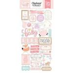 Чипборд  на самоклейки Hello Baby Girl,  размер упаковки: 30х15см., Echo Park Paper, VT000990