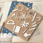 Набор Чипборда школьных предметов, размер упаковки 8х10,5см, Leomammy VT001006