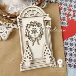 Чипборд Рождественская дверь (6 предметов), размер 10х6 см, Leomammy VT001017