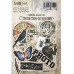 Набор высечек Путешествие во времени, 44 элементов, Mona Design, VT001023