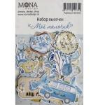 Набор высечек Мой мальчик, 48 элементов, Mona Design, VT001026