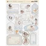 """Набор чипборда """"Наш малыш Мальчик"""", 26 элементов, плотность картона 2мм, Fleur design. VT001056"""