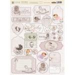 """Набор чипборда """"Наш малыш Девочка"""", 26 элементов, плотность картона 2мм, Fleur design. VT001057"""