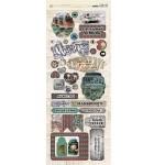 """Набор чипборда-высечки """"Храбрые сердца"""", 35 элементов, тонкий картон, Fleur design. VT001062"""