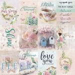 Набор карточек Дыхание весны, 12 элементов, размер 7,5х10 см. Fleur design. VT001067
