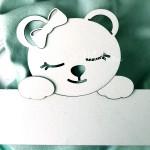 Заготовка для тиснения Мишка девочка с бантиком, размер 21 см. Чип и Скрап. VT001071