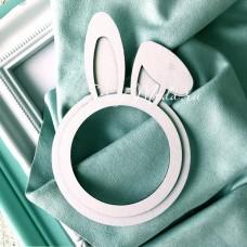 Рамочка-заготовка для шейкера Ушки Зайки в кругу, размер 10х15см, Чип и Скрап. VT001096