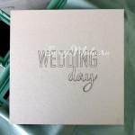Заготовка для тиснения Обложка Wedding day, размер 25х25см, VT001116