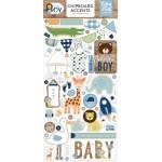 Чипборд самоклейка Baby BOY, размер упаковки: 30х15см., (56 шт.) Echo Park, VT001203