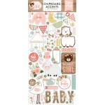 Чипборд самоклейка Baby Girl, размер упаковки: 30х15см., (55 шт.) Echo Park, VT001204