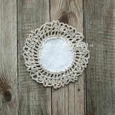 Вязанное украшение, размер 9 см.,  материал: хлопок и лен, VY000015