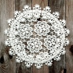 Украшение круглое кружевное, размер 19 см., VY000017