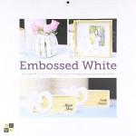 Набор бумаги Embossing White от DCWV,  1/2 набора, в наборе 18 двусторонних белых плотных листов с глубоким тиснением. YA000003