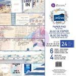 1/4 Набора бумаги Santorini, 30,5х30,5 см В наборе 6 двусторонних листов, Prima Marketing YA000032
