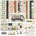 Набор двусторонней бумаги Spring marcet, 30,5х30,5 см., 12 листов + 1 лист c наклейками. Carta Bella, YA000076