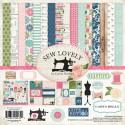 Набор двусторонней бумаги Sew Lovely, 30,5х30,5 см., 12 листов + 1 лист c наклейками. Carta Bella, YA000077