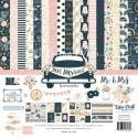 Набор двусторонней Just Married, бумага с фольгированием, 30,5x30,5 см., Echo Park Paper YA000083