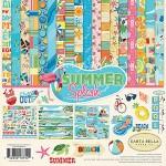 Набор двусторонней бумаги Summer Splash, текстурная бумага, 30,5х30,5 см., 12 листов + 1 лист c наклейками. Carta Bella, YA000084
