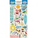 Чипборд Summer Splash-Accents, размер 15х30 см., Carta Bella, YA000086