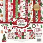 Набор двусторонней Merry and Bright, бумага с фольгированием, 30,5x30,5 см., Echo Park Paper. YA000092
