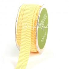 Лента твиловая Жёлтая, размер 2 см., May Arts, цена за 1 ярд, YA000123