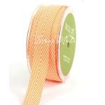 Лента твиловая Оранжевая, размер 2 см., May Arts, цена за 1 ярд, YA000124