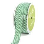 Лента твиловая Зелёная, размер 2 см., May Arts, цена за 1 ярд, YA000126