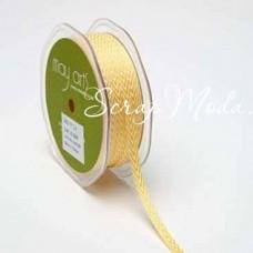 Лента твиловая узкая Жёлтая, размер 0,6 см., May Arts, цена за 1 ярд, YA000133