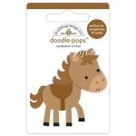 Стикер 3D mini Лошадка, высота 6 см., Doodlebug, YA000137