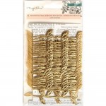 Декоративная лента листочки Flourish, 5 яров (4,5 м.),Crate Paper, YA000157