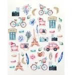 Набор высечек Цветы, коллекция Однажды в Париже, 43 элемента, Mona Design, YA000158