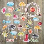 Набор высечек Цветы, коллекция Акварельная осень, Mona Design, YA000159