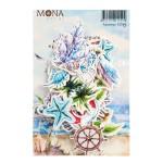 Набор высечек Цветы, коллекция Райские острова, Mona Design, YA000161
