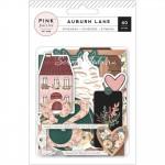 Набор высечек коллекции Auburn Lane. с фольгированием золото, 40 элементов, Pink Paislee, YA000183