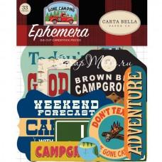 Высечки Gone Camping. 33 шт., размер: от 4 до 10 см., Carta Bella, YA000187