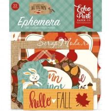 Высечки Celebrate Autumn-Ephemera Die Cut Pieces, 33 шт., размер: от 4 до 10 см., Echo Park, YA000190
