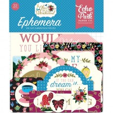 Высечки Alice In Wonderland-Ephemera Die Cut Pieces, 33 шт., размер: от 4 до 10 см., Echo Park, YA000192