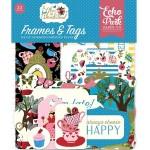 Высечки Alice In Wonderland-Frame&Tags, 33 шт., размер: от 4 до 10 см., Echo Park, YA000193