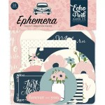 Высечки Just Married-Ephemera Die Cut Pieces, 33 шт., размер: от 4 до 10 см., Echo Park, YA000195
