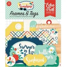 Высечки Good Day Sunshine-Frame&Tags, 33 шт., размер: от 4 до 10 см., Echo Park, YA000197