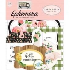 Высечки Spring Market-Ephemera Die Cut Pieces 33 шт., размер: от 4 до 10 см., Carta Bella, YA000198