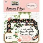 Высечки Spring Market-Frame&Tags, 33 шт., размер: от 4 до 10 см., Carta Bella, YA000199