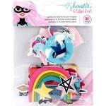 Высечки Shimelle Glitter Girl, American Crafts, 30 шт., YA000200