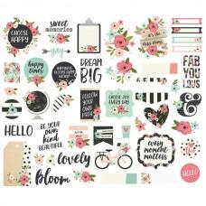 Набор высечек Bloom Bits&Pieces, в наборе 47 шт., Simple Stories, YA000201