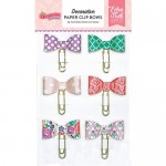 Декоративные скрепки Decorative Paper Clip Bows Princess - Once Upon A Time, 6 шт., Echo Park. YA000221