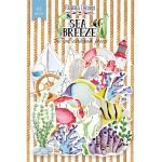 """Набор бумажных высечек """"SEA BREEZE"""", 61 штук, размер элементов от 2 до 12 см., Fabrika Decoru. YA000248"""