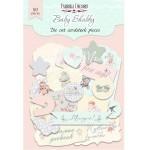"""Набор бумажных высечек """"Baby Shabby"""", 50 штук, размер элементов от 2 до 12 см., Fabrika Decoru. YA000255"""